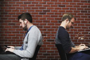 it's easy to ignore co-workers when you're absorbed in your own work